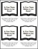 Book of Life Tract - Side One